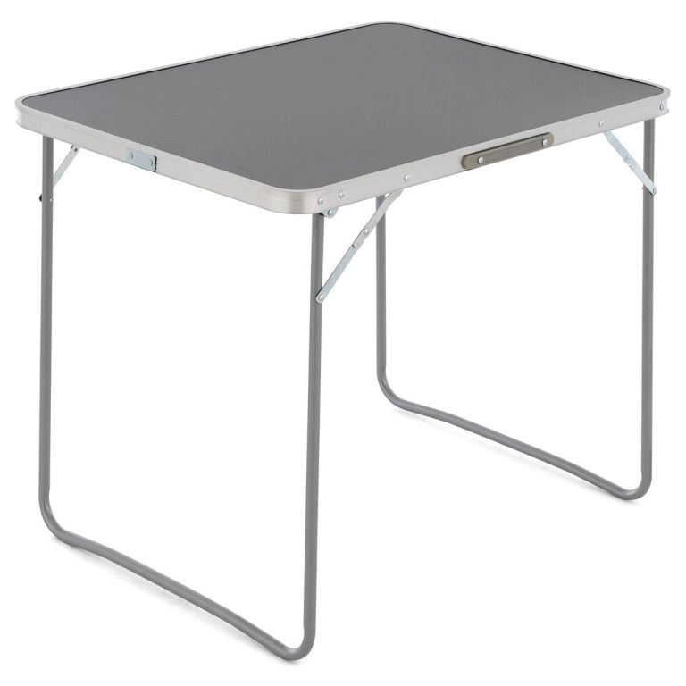 Sklopný kufríkový stolík, 80 x 60 x 70 cm, antracit