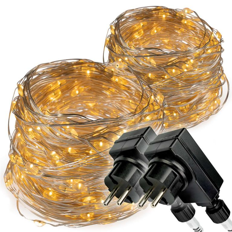Svetelná reťaz - 2 x 200 LED, teplá biela