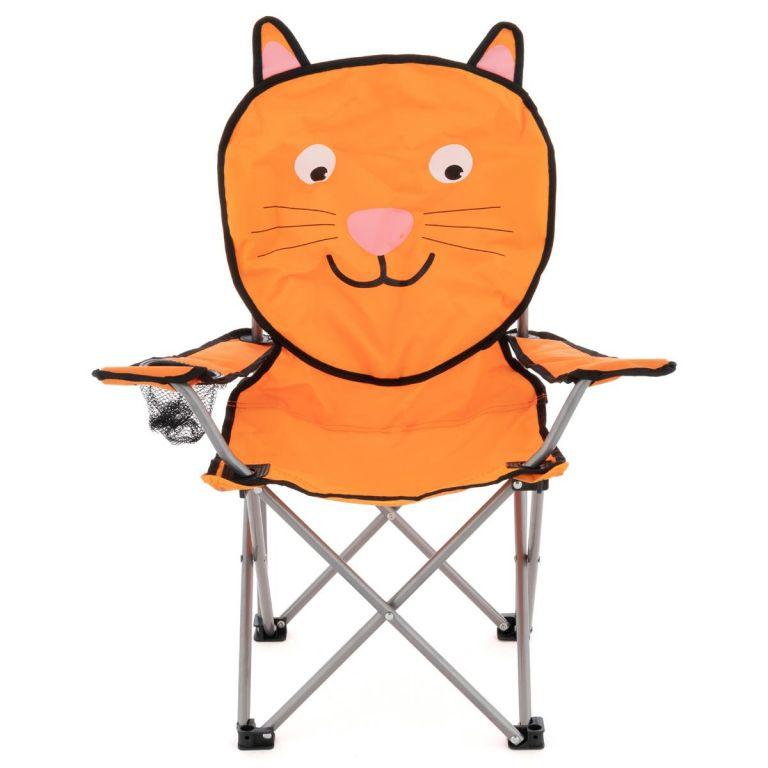 Detská skladacia kempingová stolička - motív mačka