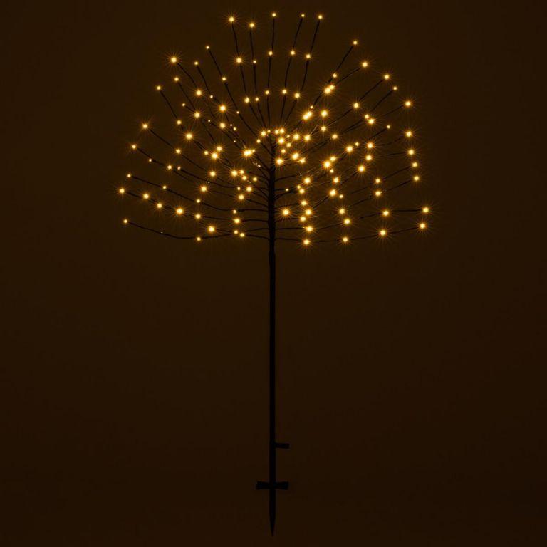 Vianočná dekorácia svetelný strom, 140 LED, teplá biela