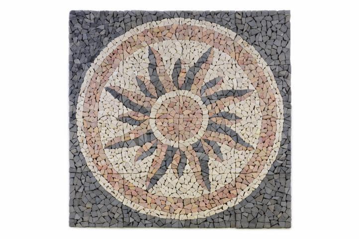 Mramorová mozaika - motív slnka obklad 1m2
