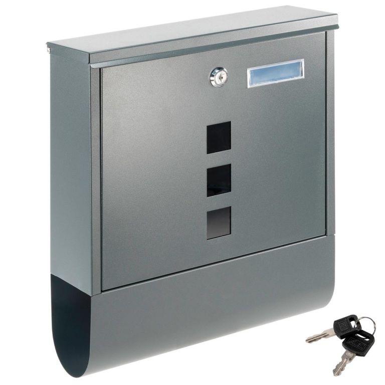 Poštová schránka s priehradkou na noviny, antracit, 2 kľúče