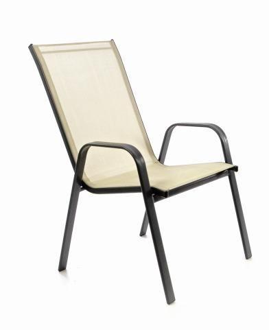 Stohovateľná stolička balkónová, krémová