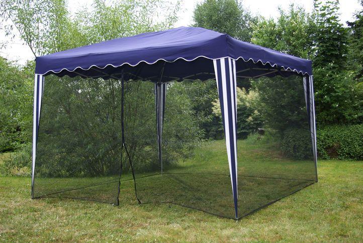 Moskytiéra na záhradný párty stan 3 x 3 m, čierna