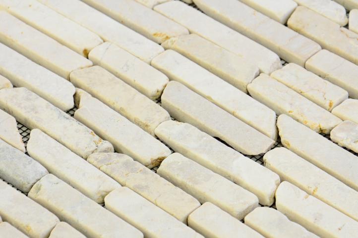 Mramorová mozaika Garth - krémová, obklady 1 m2