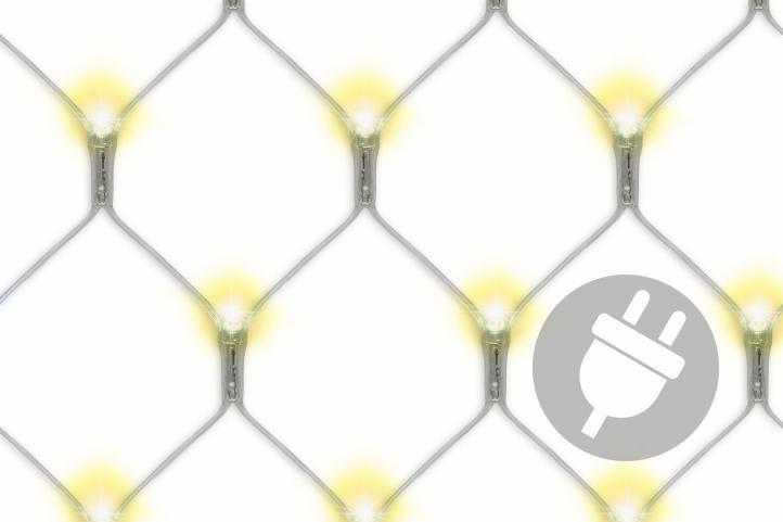 Vianočná svetelná sieť - 3 x 3 m, 128 diód, teple biela