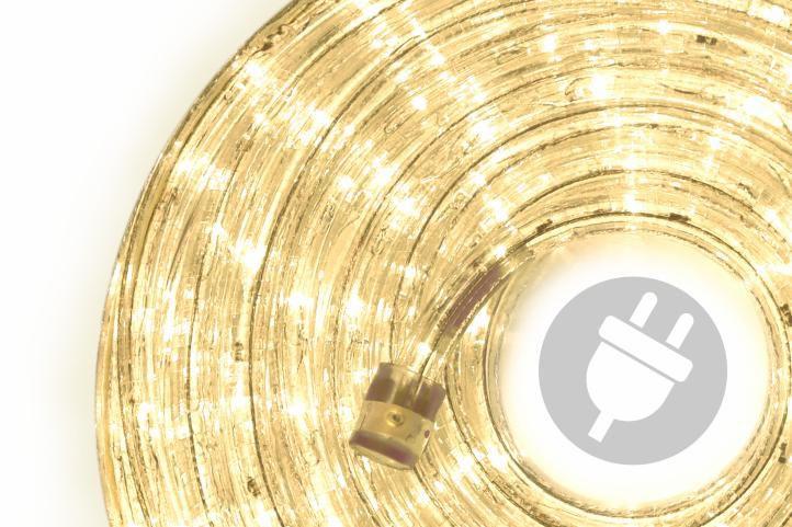 LED svetelný kábel - 240 diód, 10 m, teple biely
