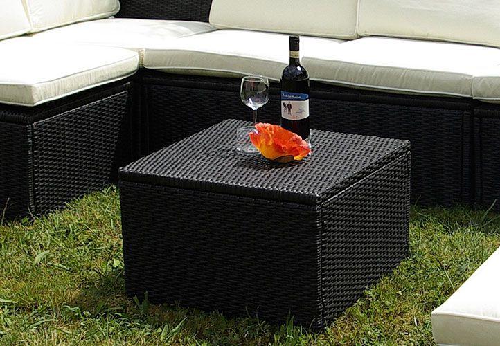 Polyratanový stolík / stolička Garth 55 x 55 x 36 cm