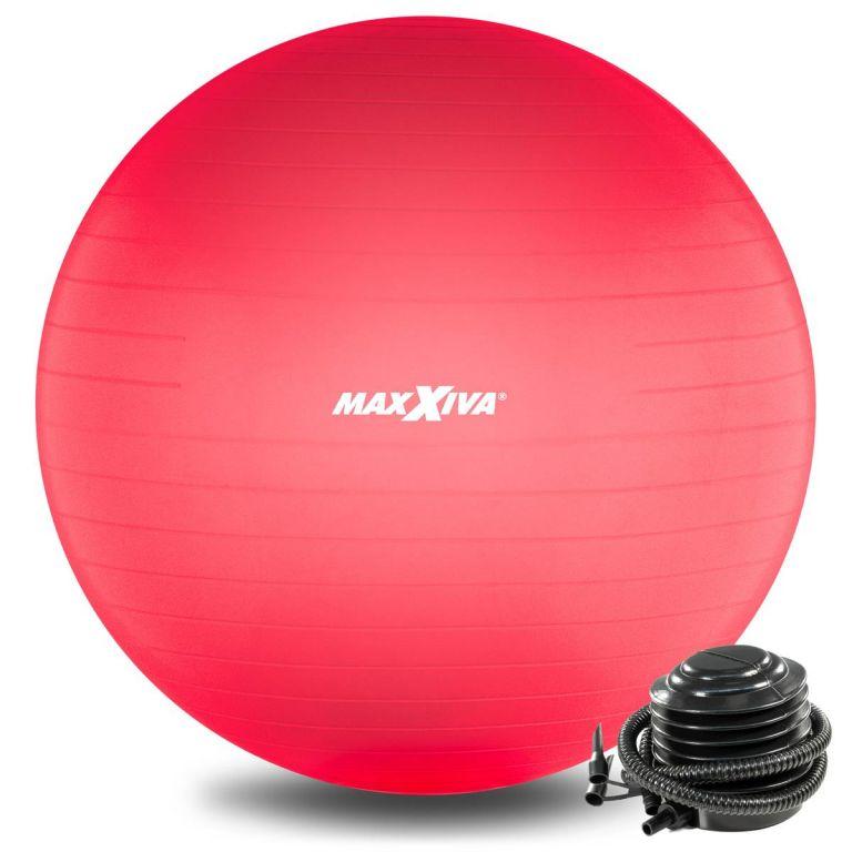 MAXXIVA Gymnastická lopta Ø 65 cm s pumpičkou, červená