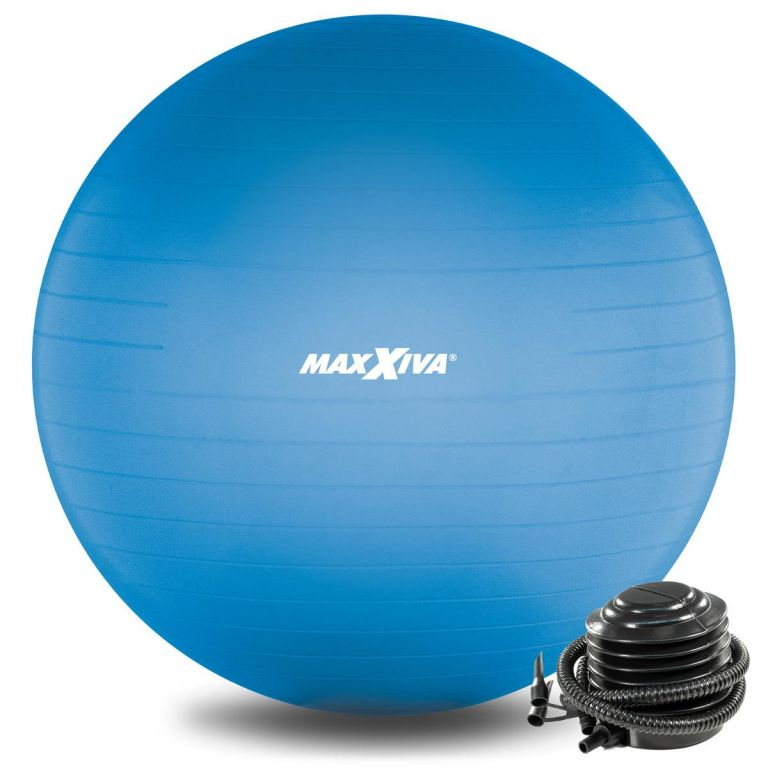 MAXXIVA Gymnastická lopta Ø 65 cm s pumpičkou, modrá