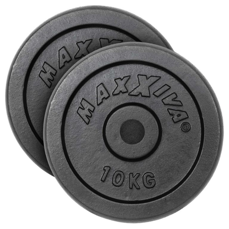 MAXXIVA Sada závažia 2 x 10 kg, liatina