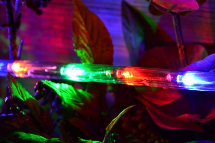 LED svetelný kábel - 480 diód, 20 m, farebný