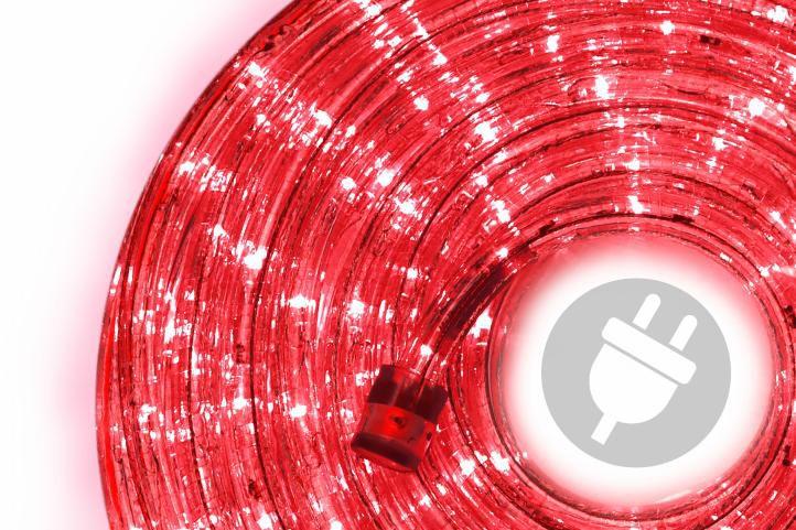 Nexos 822 LED světelný kabel 20 m - červená, 480 diod