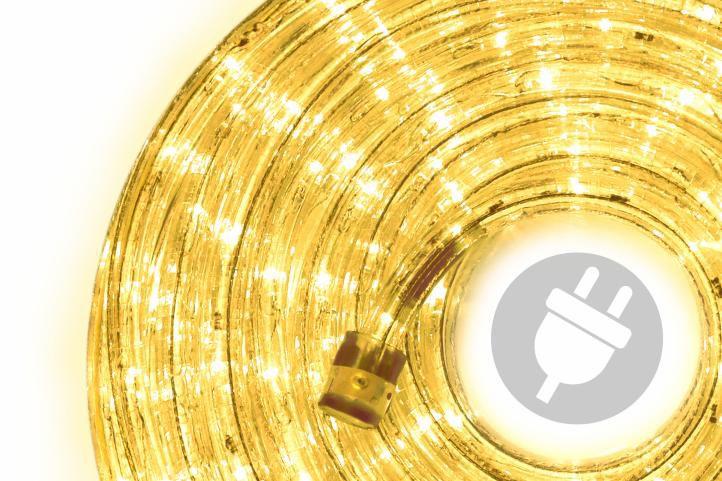 LED svetelný kábel - 240 diód, 10 m, žltý