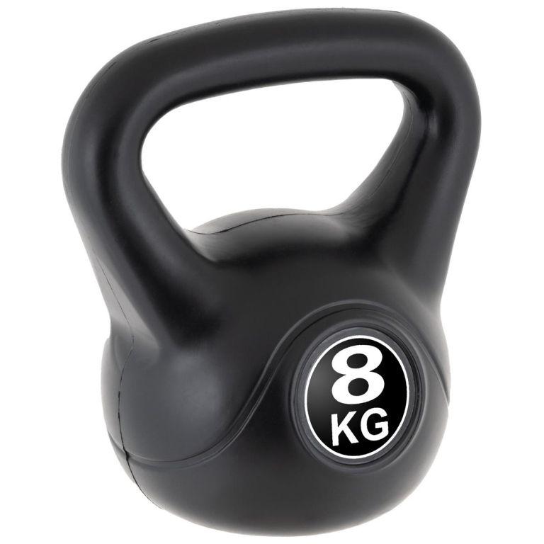 MAXXIVA Kettlebell činka, čierna, 8 kg