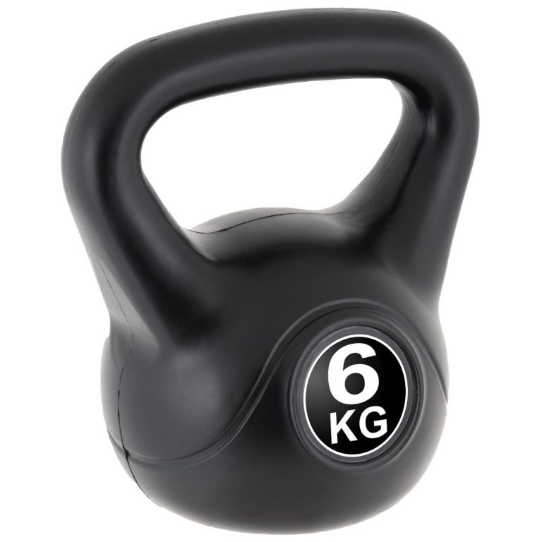 MAXXIVA Kettlebell činka, čierna, 6 kg