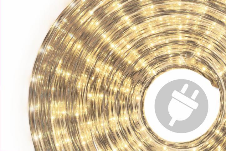 Svetelný kábel 50 m - teplá biela, 1800 minižiaroviek