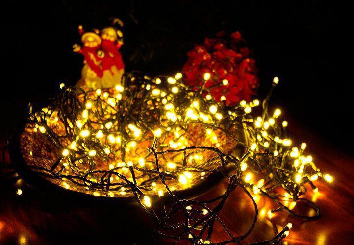 Vianočné LED osvetlenie 10 m - teplá biela, 100 diód