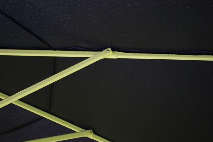 Slnečník s kľučkou Garth - modrý, 4 m
