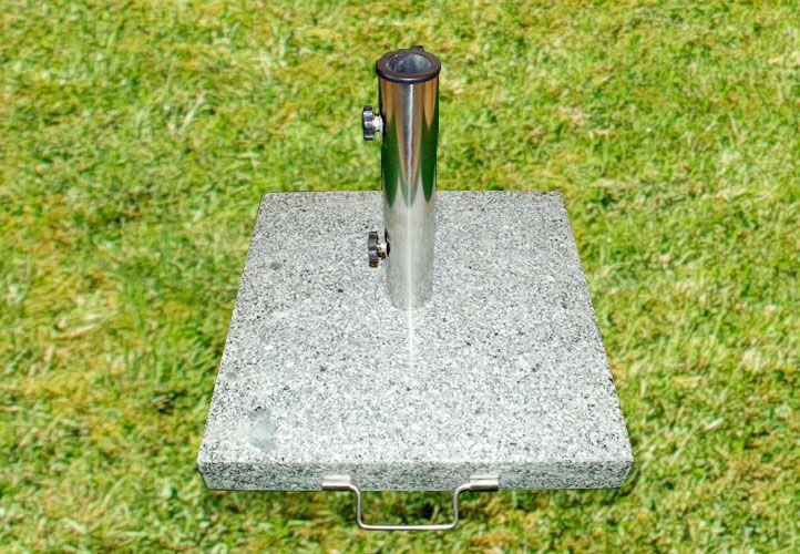 Stojan na slnečník - žula / nerezová oceľ, 40 kg