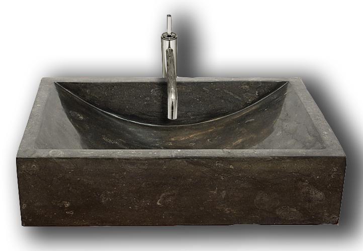 Kamenné umývadlo - leštený mramor čierne