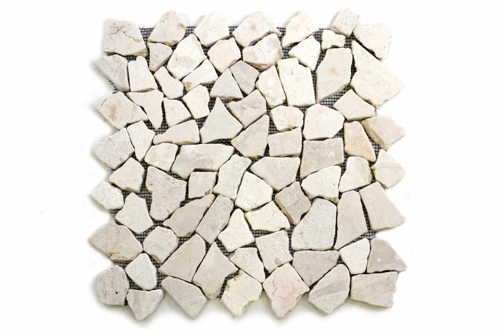 Mramorová mozaika Garth krémová 32 x 32 cm