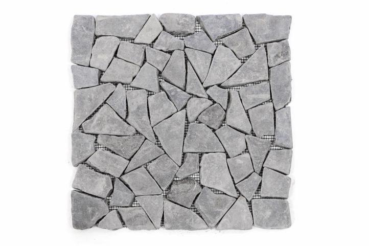 Mramorová mozaika Garth- sivá, obklad 1 ks