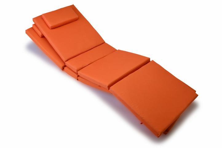Sada 2 kusov polstrovania na lehátko Garth - oranžová