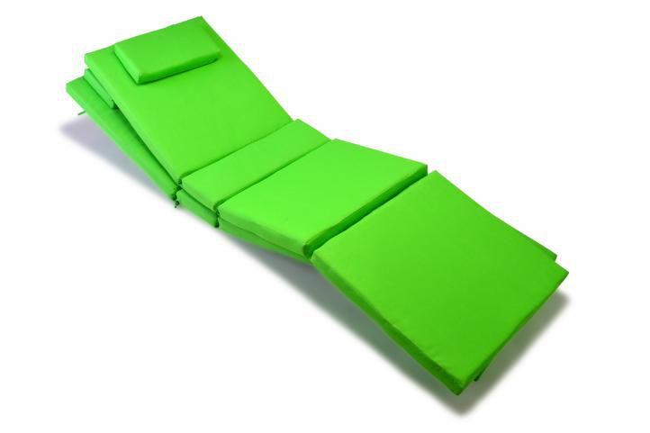 Sada 2 kusov polstrovania na lehátko Garth - zelená