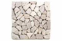 Mramorová mozaika Garth – biela – obklady 1 ks