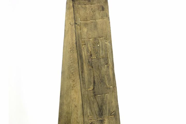 Komoda - skrinka v tvare pyramídy 100 cm hnedá
