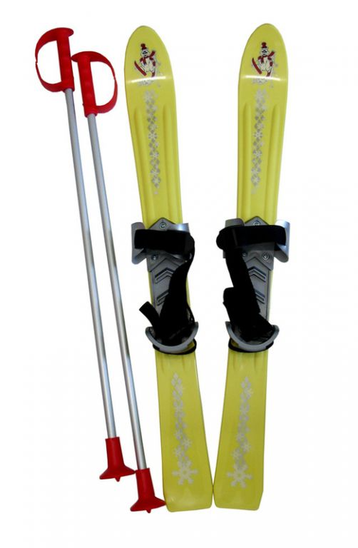 Plastkon Lyže detské 70cm - žlté