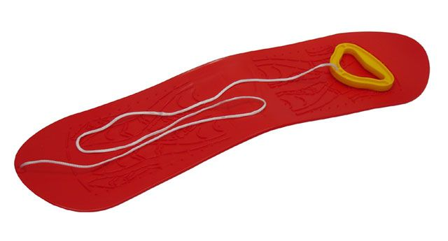 Snowboard detský plastový - červený