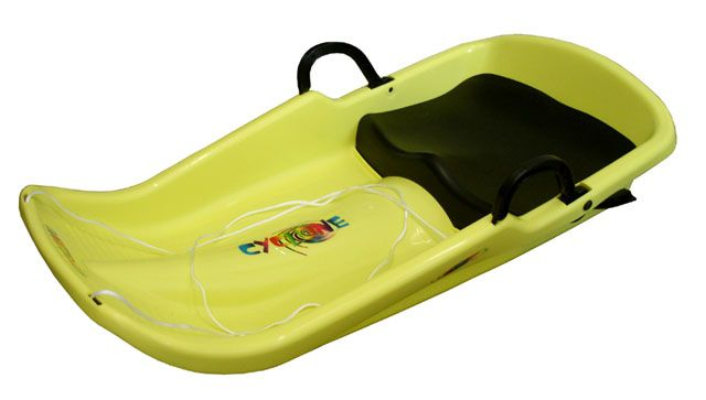 Cyclone plastový bob - žltý