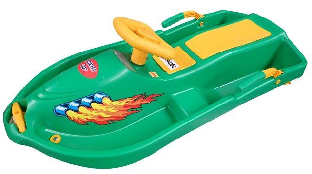 Snow Boat riaditeľný bob - zelený