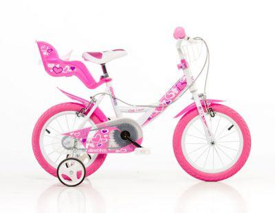 Detský bicykel, ružová potlač 16