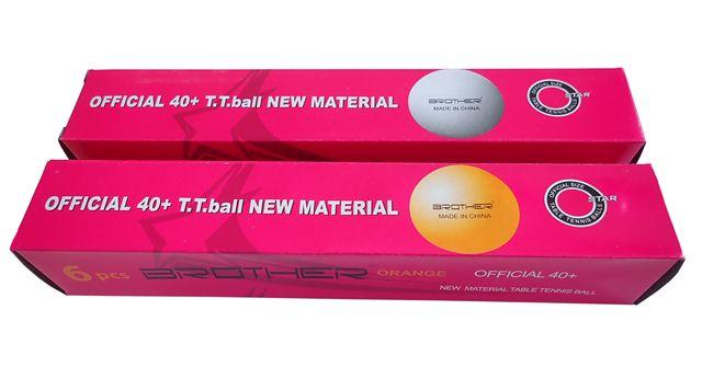 míčky na stolní tenis 6ks 40mm