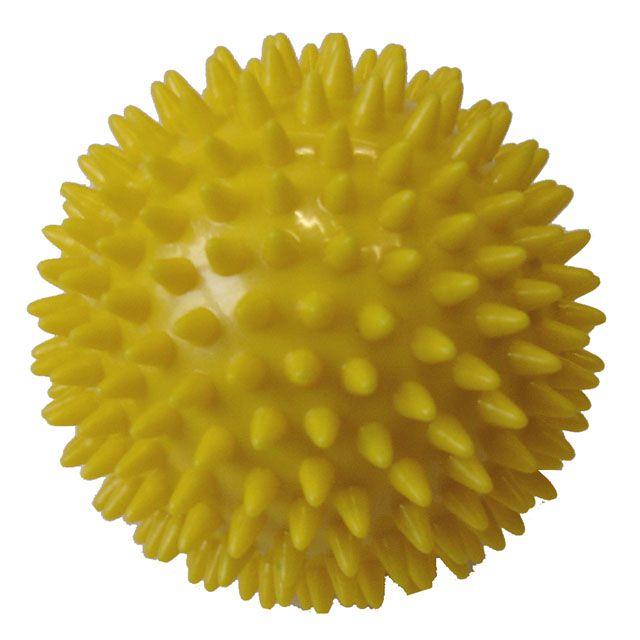 Masážna loptička 9 cm žltá