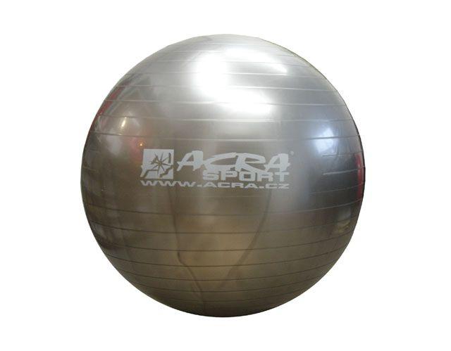 Gymnastická lopta 750 mm strieborná