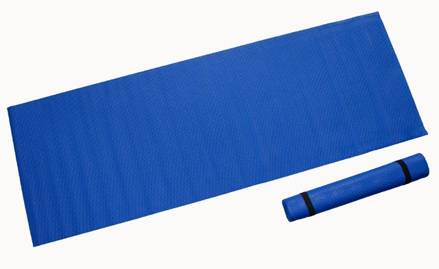 Gymnastická podložka 173 x 61 x 0,4 cm, tmavomodrá