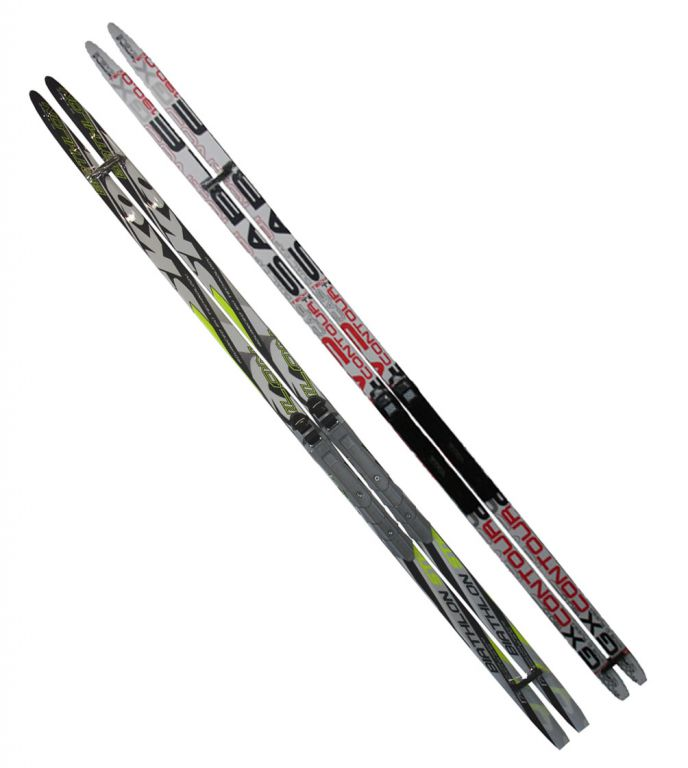 Bežecké lyže s viazaním NNN - 170 cm, hladké aj šupiny