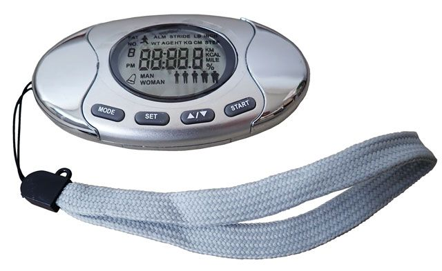 Multifunčkný krokomer - Pedometer s meraním telesného tuku