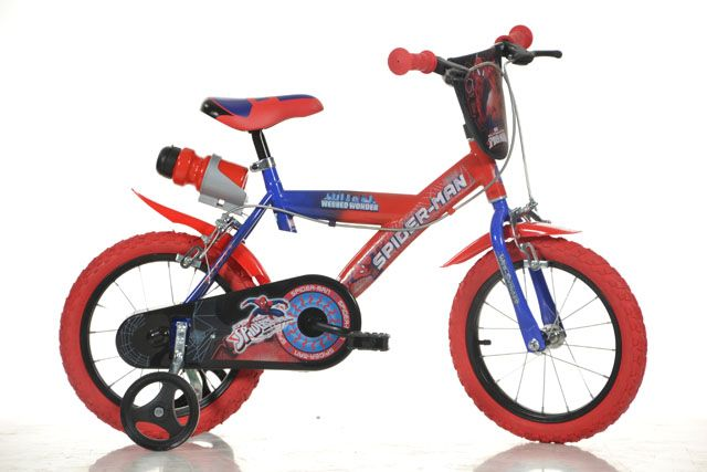 "Detský bicykel Dino - SPIDERMAN 16"""
