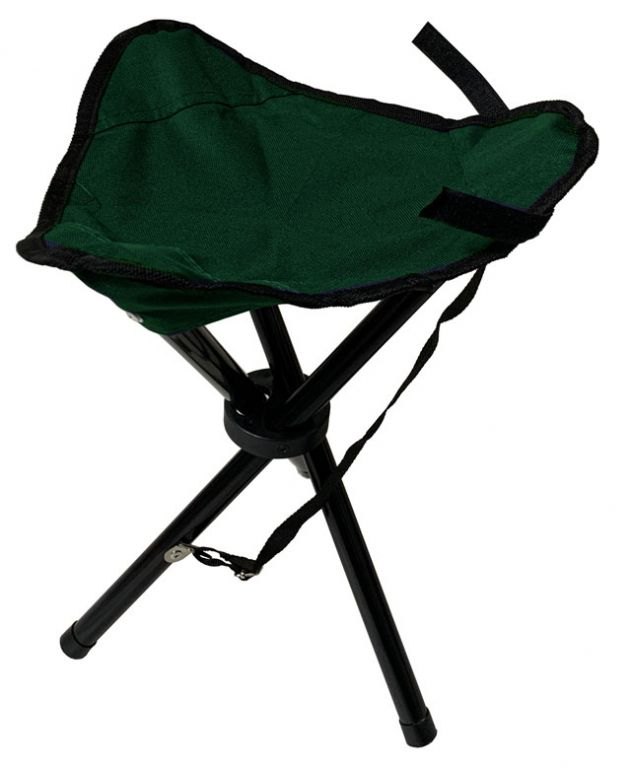 Skladacie sedátko trojnožka - zelené