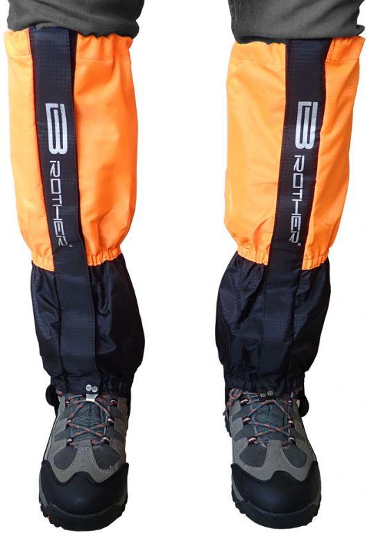 Turistické návleky komfortné čierno-oranžové - 1 pár