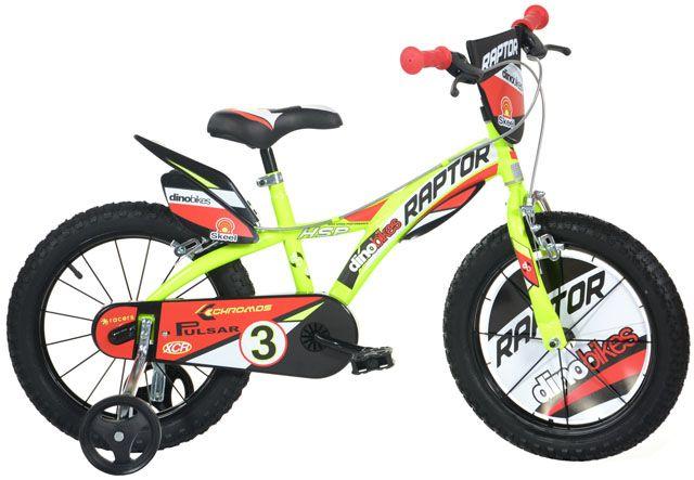 """Detský bicykel Dino 143GLN, 14"""", 2017 - žltý"""