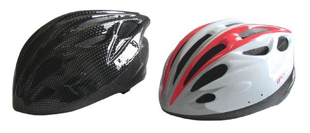 Cyklistická prilba červená / čierna veľkosť M