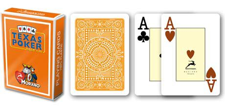 Modiano 2 rohy 100% plastové karty - Oranžové