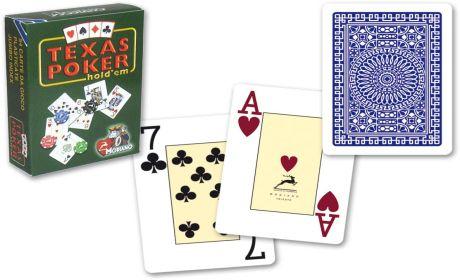 Modiano Duplex Jumbo 2 rohy papírové karty - Modré