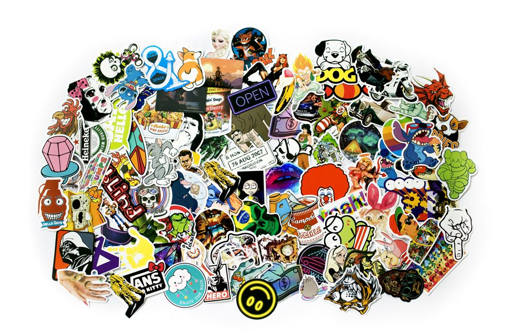 Sticker bomb - Sada samolepiek, mix 100 ks